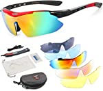 OBAOLAY Polarized Sports Sunglasses UV400 with 5 Interchangeable Lenses for Mens