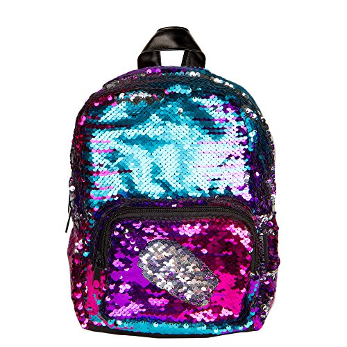 bfffd191b6 Lab Magic Sequin Reversible Silver Fashion Mini Backpack
