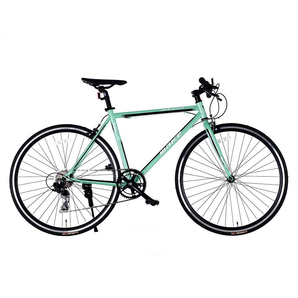クロスバイク 自転車 フラットハンドル 700*23C シマノ製8段ギア スチールフレーム 初心者 入門 街乗り 通学通勤 軽量 PL保険付RS-12 B079P1KZQW グーリン グーリン