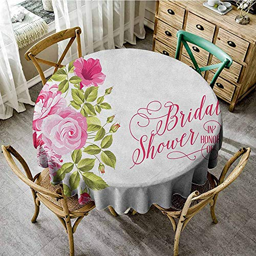 Rank-T Round Tablecloth Vinyl Fitted 67