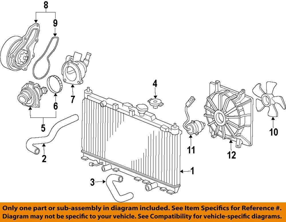 Genuine Honda 38616-R70-A01 Cooling Fan Motor