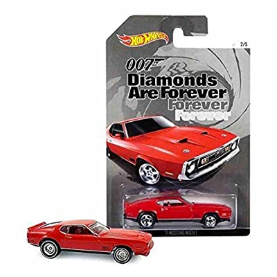 Hot Wheels, 2015 Exclusive James Bond 007, Diamonds Are Forever '71 Mustang Mach I Red 2/5: Toys & Games