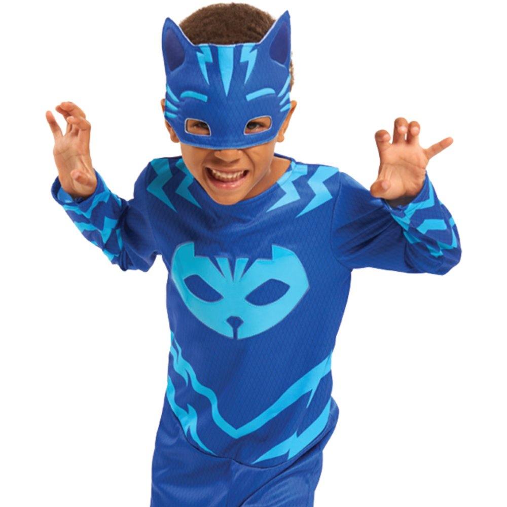 Pyjamasques - pjm071 - Disfraz de Traje + máscara yoyo - 4 - 6 años: Amazon.es: Juguetes y juegos