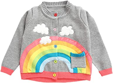 Infant Toddler Baby Boy V-Neck Cardigan Knitted Sweater Long Sleeve Sweatshirt Tops Fall Winter Outwear Warm Clothes