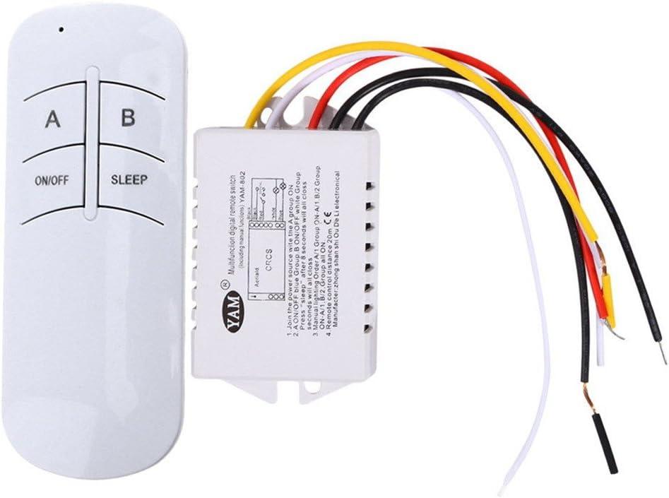 Mengonee 220V multifonction Commutateur de t/él/écommande sans fil lampe num/érique Interrupteur de commande /à distance