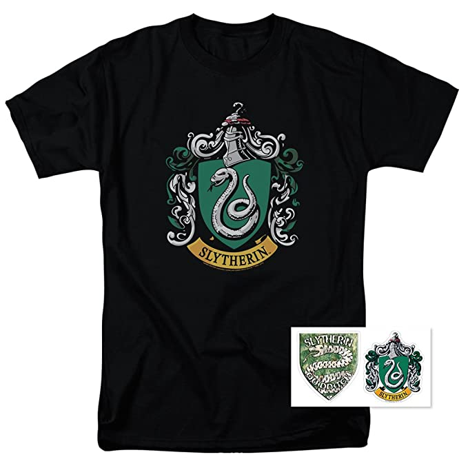 ebf17f3b7a8 Amazon.com  Harry Potter T Shirt - Hogwarts School Logos Adult ...