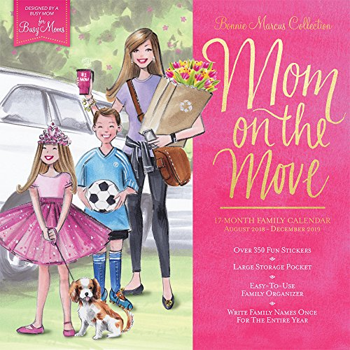 Bonnie Marcus Mom on the Move 2019 12 x 12 Inch Monthly Square Wall Calendar and Pocket Organizer with Foil Stamped Cover, Fashion Designer Stationery (Bonnie Marcus Collection)