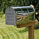 Naiture Oversized Post Mount Stainless Steel Mailbox With Mail Imprint