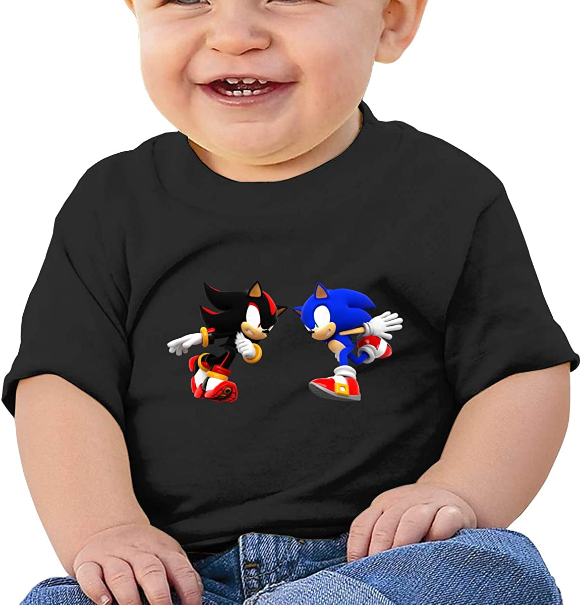 FHTD Sonic Colors Infant Graphic T-Shirt Baby Cartoon Cotton Tees Black