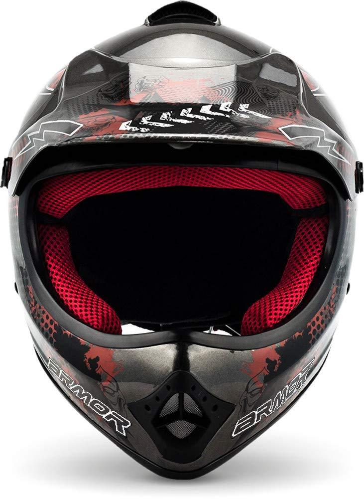 "/· Kinder-Cross Helm /· Kinder Enduro Moto-Cross Off-Road Motorrad Sport /· DOT certified /· Click-n-Secure/™ Clip /· Tragetasche /· S Gelb 53-54cm ARMOR /· AKC-49 /""Limited Yellow/"""