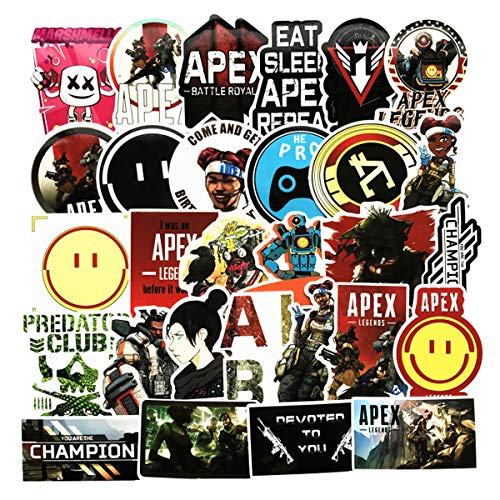 Decal Stickers 68 PCS Game APEX Laptop Sticker Waterproof Vinyl Stickers Car Sticker Motorcycle Bicycle Luggage Decal Graffiti Patches Skateboard Sticker (APEX 68pcs)