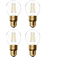Slimme vintage gloeilamp Meross WLAN gloeilamp dimbare LED-lamp, Smart Edison retro lamp warm wit, compatibel met Alexa…