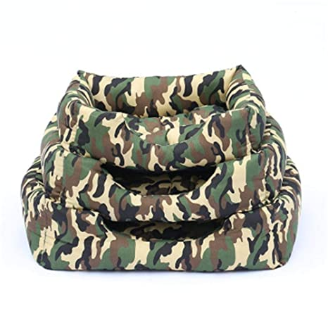 Amazon.com : Vivian Inc Sofas & Chairs - Dog Bed Soft Dog House Design Camouflage Soft Comfortable for Small Medium Dogs (Coffee Camo, S) : Pet Supplies
