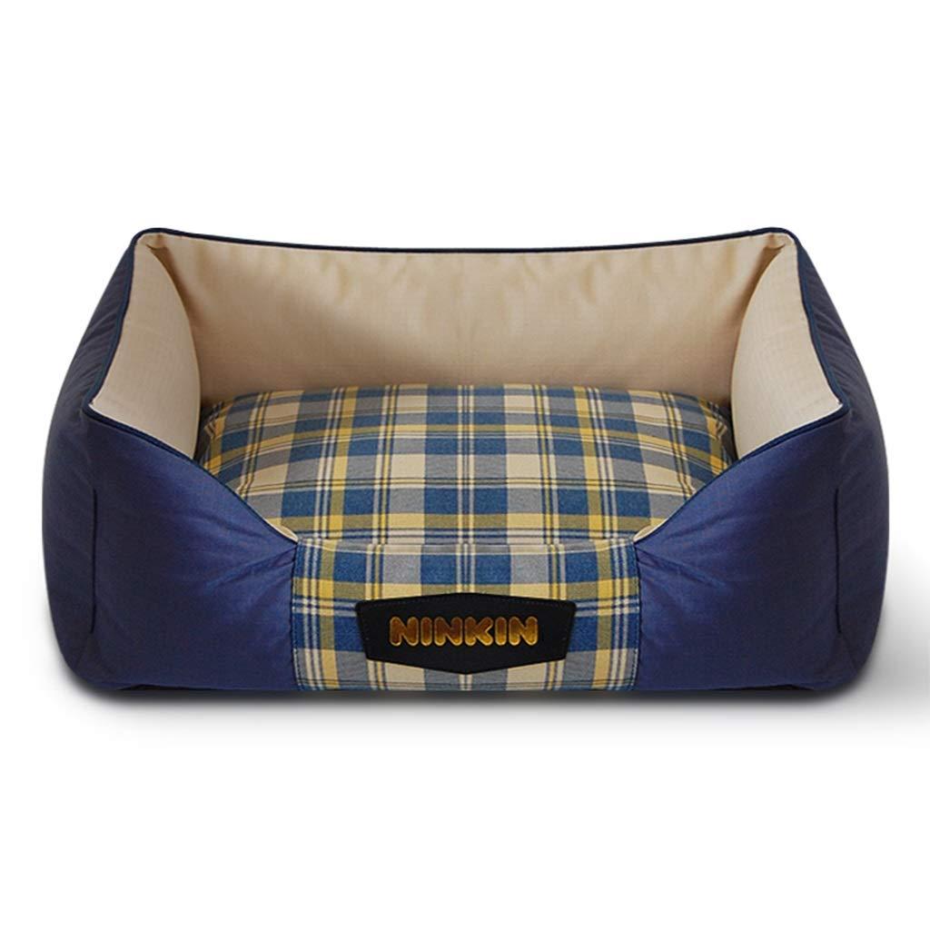 C 45×60cm C 45×60cm PLDDY pet Bed Pet Mat, Large Dog Kennel Cat House Removable and Washable Nest Wear-Resistant Bite Pet Bed (color   C, Size   45×60cm)