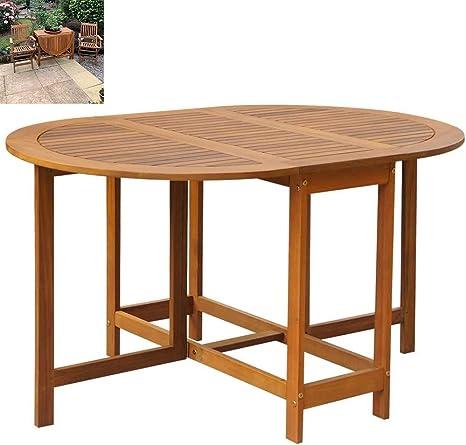 DNNAL Desayuno Mesa de Comedor, Oval Gota Tabla de la Hoja de jardín al Aire Libre del Partido Contador de Cocina Muebles de Interior Bar Jardín: Amazon.es: Deportes y aire libre