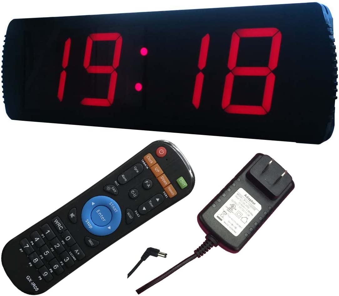 Ledgital LED Wall Clock 20 x 6.3 Countdown up Presentation Clock w Remote- Indoor USE ONLY