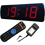 Ledgital LED Wall Clock 20 x 6.3ft Countdown & up Presentation Clock w/Remote- INDOOR USE ONLY