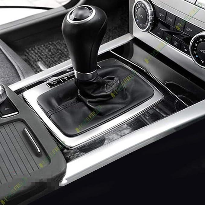 Auto Styling Mittelkonsole Schaltpaneel Abdeckung Aufkleber Trim Für C Class W204 W212 C180 Innen Zubehör Edelstahl Matt Silber Auto