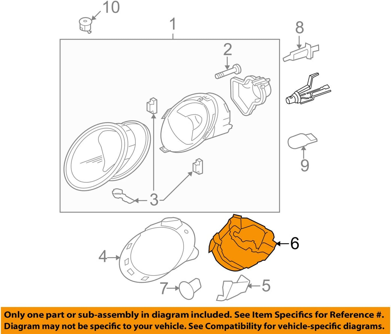 2006 vw beetle fuse diagram amazon com genuine vw beetle 2006 2010 headlight mounting housing 2006 volkswagen beetle wiring diagram genuine vw beetle 2006 2010 headlight