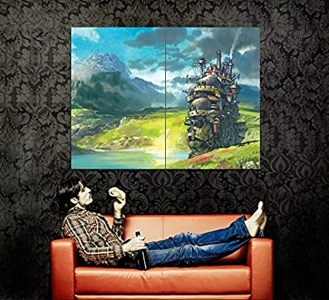 Amazon.com: xv2196 Howl s Moving Castle Pintura Anime Manga ...