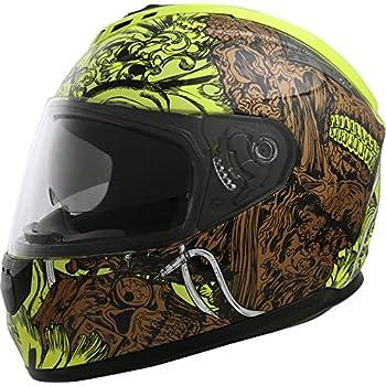 GLX Street Bike Motorcycle Full Face Helmet Dual Visor DOT Approved