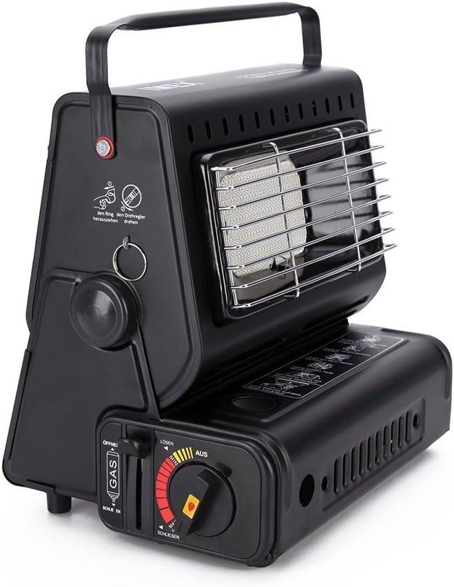 IMEX - Calefactor de Gas cerámico para Exterior, Tiendas de campaña, Camping, 1,3 kW