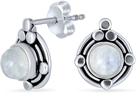 Women/'s 925 Sterling Silver Natural Crystal Star Round Stud Drop Earrings NEW