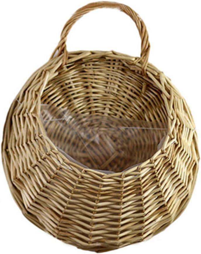 qwertyu - Cesta colgante para nido de pájaros, cesta para colgar en la pared, macetas de mimbre para el hogar, jardín, boda, decoración de pared