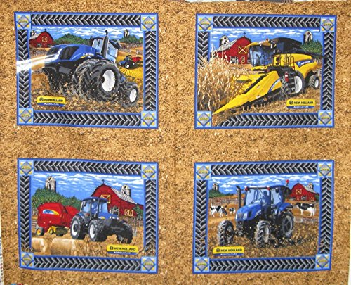 New Holland Tractor Cotton Fabric - Officially Licensed (Great for Quilting, Sewing, Craft Projects, Throw Pillows & More) 44