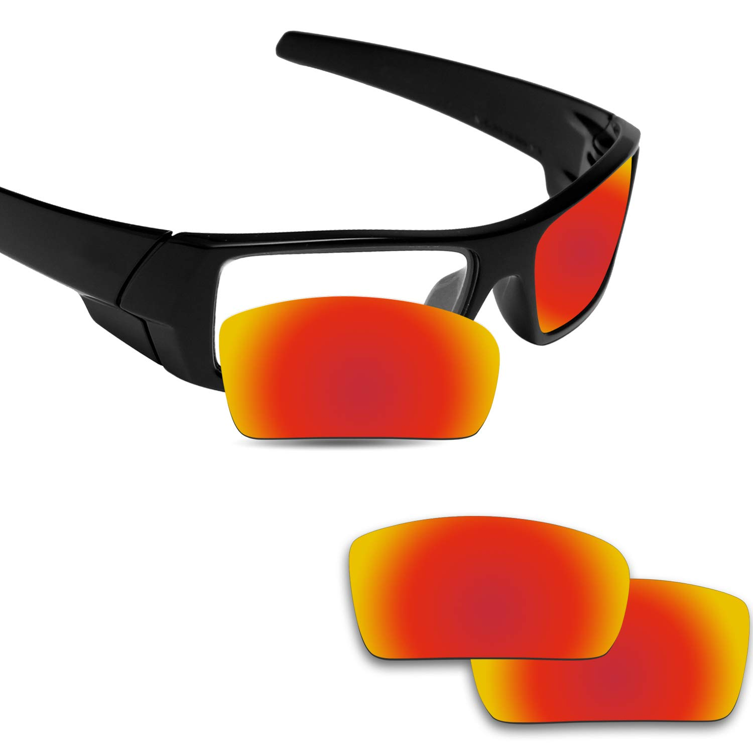 Fiskr Anti-saltwater Polarized Replacement Lenses for Oakley Gascan Sunglasses - Various Colors (Fire Red - Anti4s Polarized, 0)