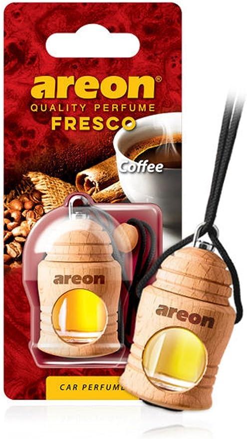 Areon Fresco Auto Duft Kaffee Schwarz Cafe Glas Duftflakon Flakon Holz Hängend Anhänger Spiegel 4ml Pack X 1 Auto