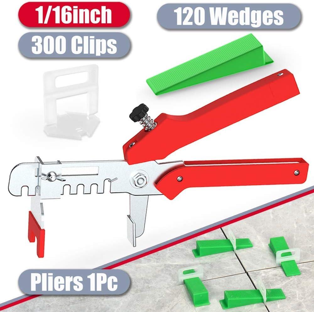 Z-Color 400pcs Plastic Tile Leveling System 200 Clips 200 Wedges Tiling Flooring Tools 3mm