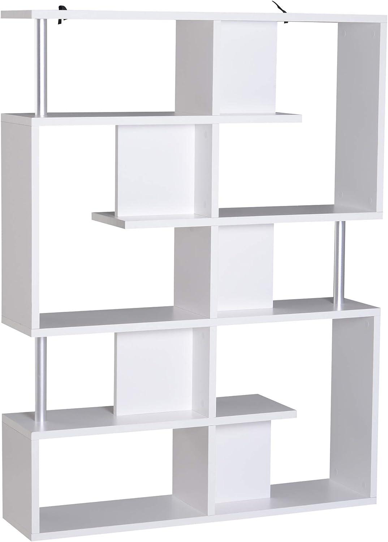 Modern Wooden Bookcase Bookshelf Free Standing Shelves Storage Display Unit New