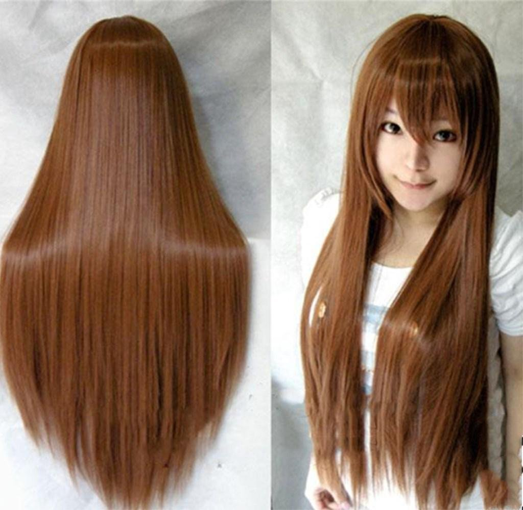 AN-LKYIQI Mode Frauen Multi-Color langes glattes Haar Cosplay Haar Kostüm Party natürliche Haar Cosplay Perücken 231646