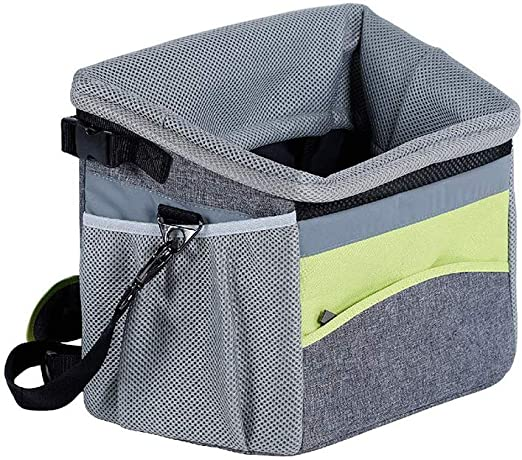 GFEU Transportín de bicicleta para perro extraíble ajustable cesta ...