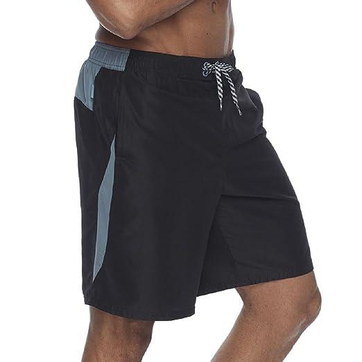 ed08b930db Amazon.com: NIKE Men's Core Contend Swim Trunks (Medium, Black ...