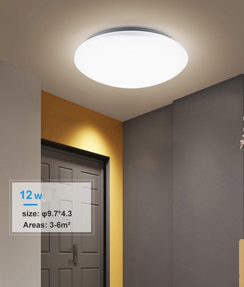 Plafonniers 1440lm Blanc Chaud 3000k Impermeable A L Eau Led Plafonnier Moderne Mince Rond Led Lampe De Plafond Pour A La Salle De Bain La Chambre La Cuisine Le Salon Le Balcon 18w