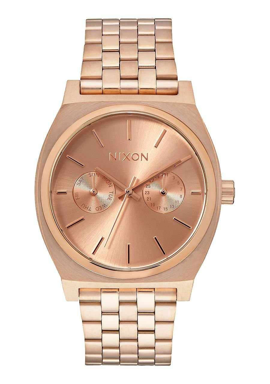 Nixon Unisex Time Teller Deluxe All Rose Gold One Size