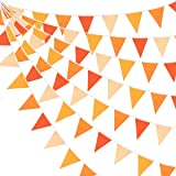 10M/32Ft Triangle Flag Fabric Banner Cotton Pennant Garland Cloth Bunting for Fall Decor Autumn Wedding Birthday Party…