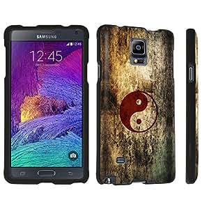 DuroCase ? Samsung Galaxy Note 4 Hard Case Black - (Vintage Ying Yang)