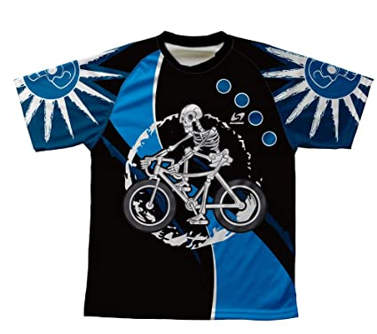 5536b308 ScudoPro Skeleton Biker Technical T-Shirt for Men and Women - Size XS