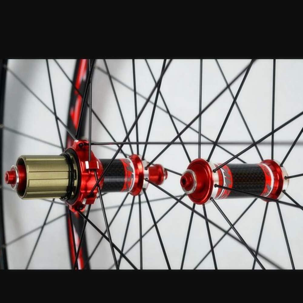 PASAK Road Bike 700C Bicycle Wheelset Carbon Fiber Hub V Brake Straight Pull 30MM Rim Front 20H Rear 24H Wheels