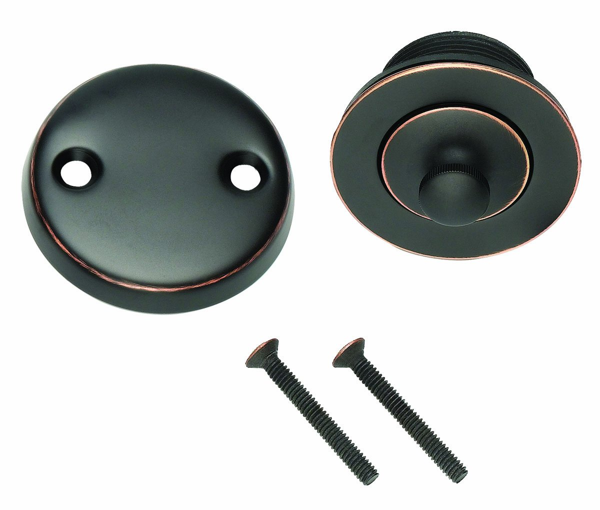 DESIGN HOUSE 522342 Lift and Turn Bath Drain, Oil Rubbed Bronze Finish