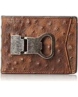 Nocona Men's Ostrich Print Money Clip Bi-Fold Wallet