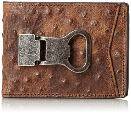Clip Money Ostrich - Nocona Belt Co. Double Bifold Money Clip Ostrich, Brown