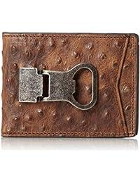 Nocona Men's Ostrich Print Money Clip Bi-Fold Wallet - N5488602