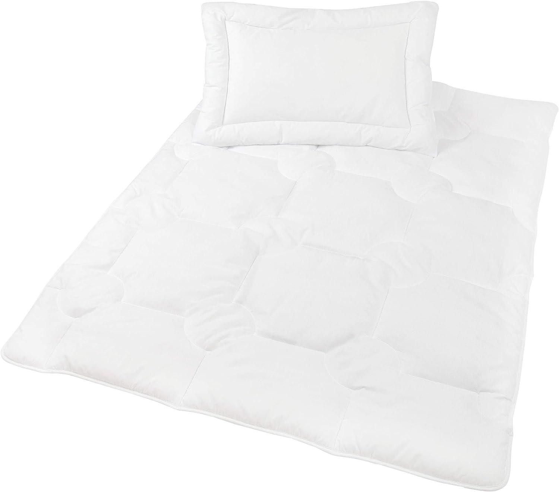 Zollner Edredón y almohada para cuna 400g, 100x135 y 40x60 cm, relleno de fibra