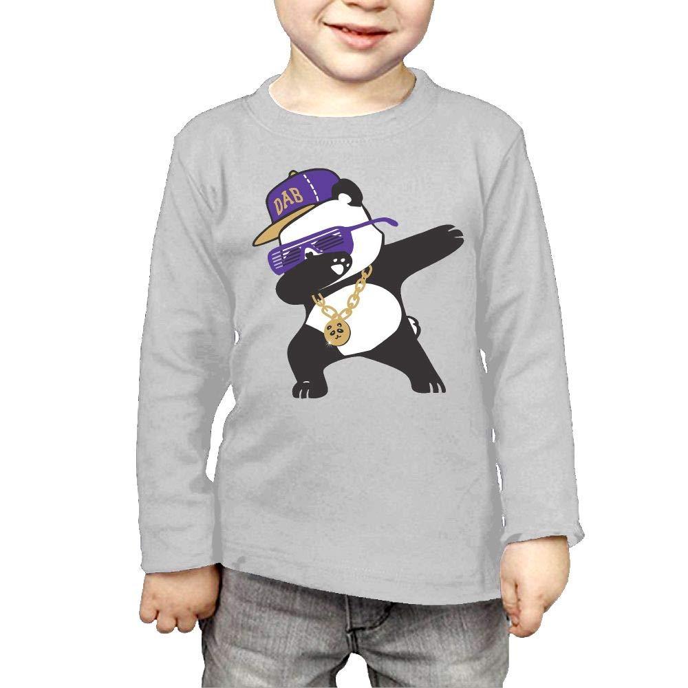 Fryhyu8 Newborn Childrens Dabbing Panda Printed Long Sleeve 100/% Cotton Infants Tee Shirt