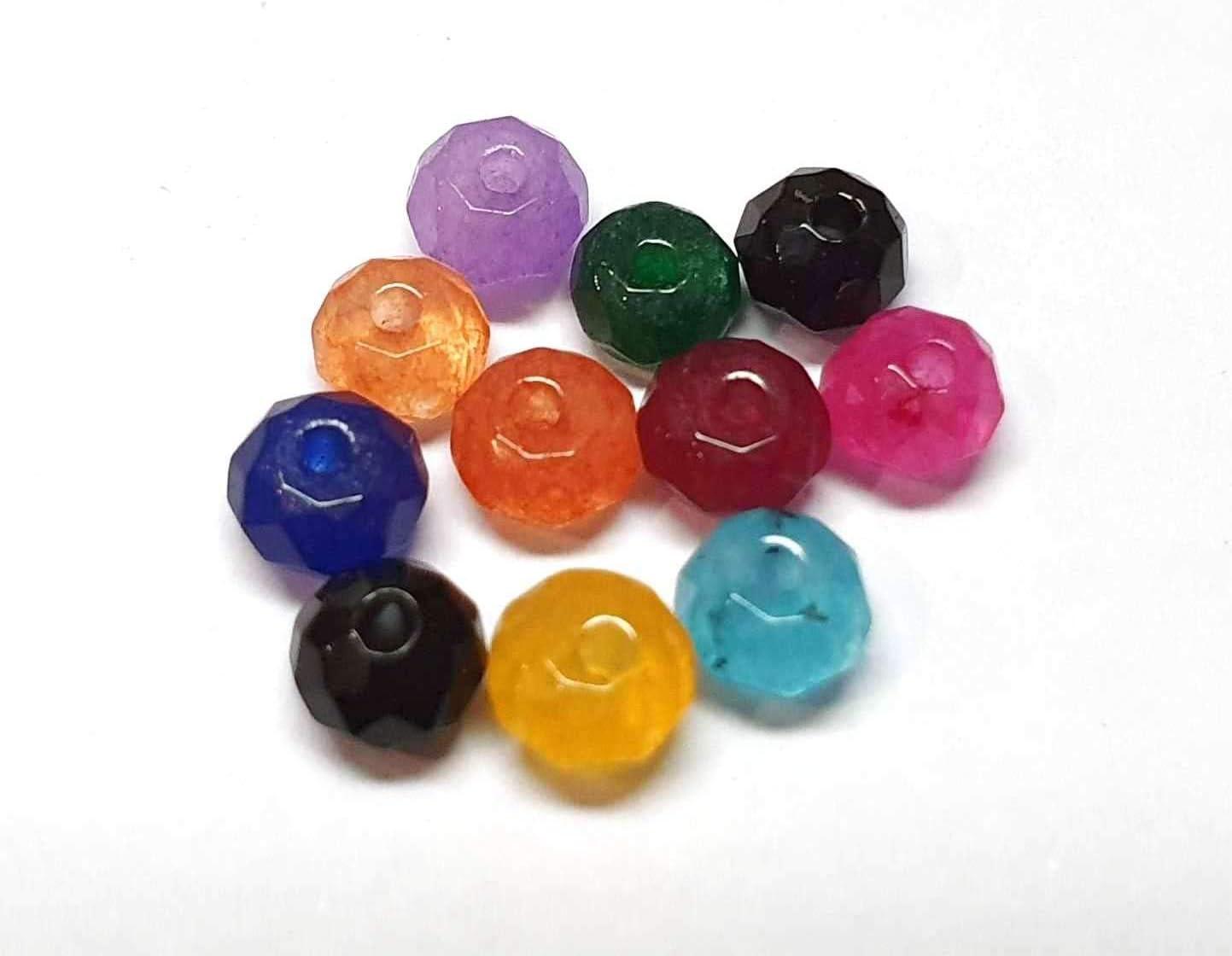 Grüner Chalcedon 1 Strang Edelstein Perlen #4221 Lemon Chrysopras Perlen 6 mm
