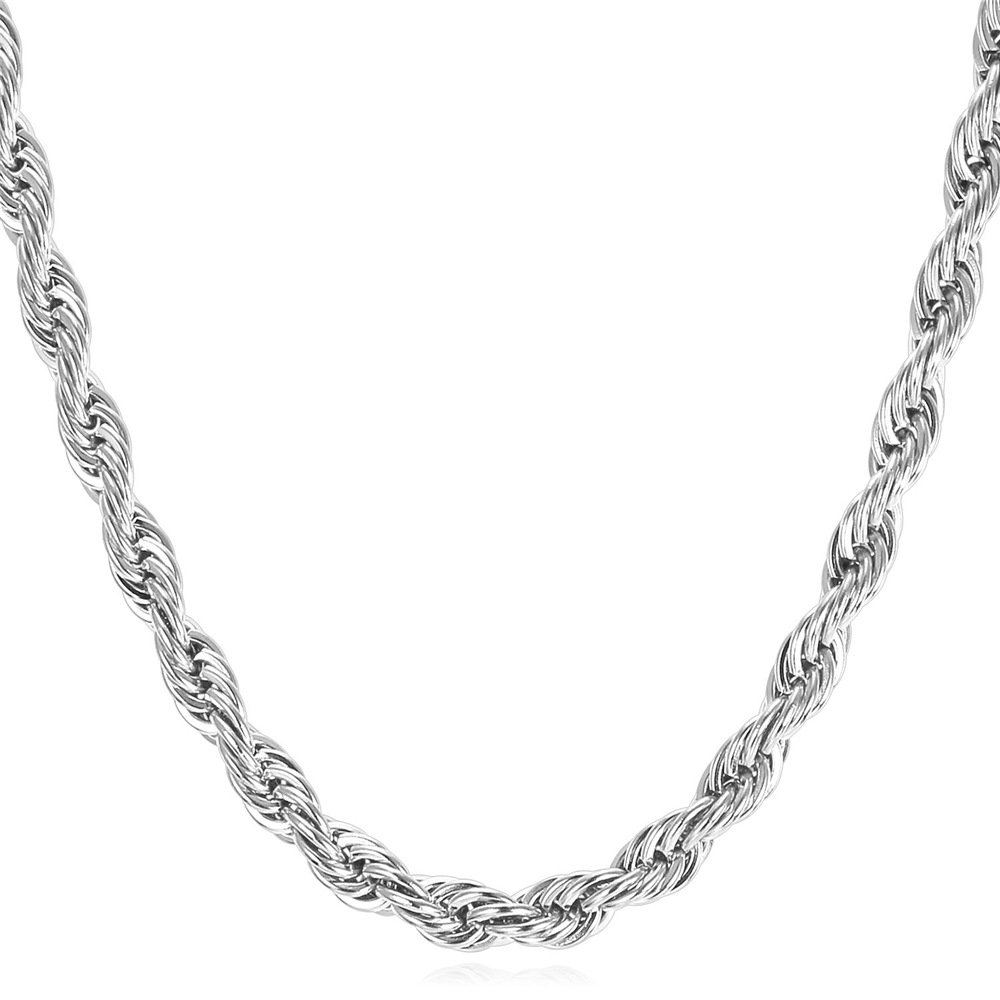 U7 6mm Stainless Steel Rope Chain Necklace - 26 Inch (B07KR4FLQD) Amazon Price History, Amazon Price Tracker